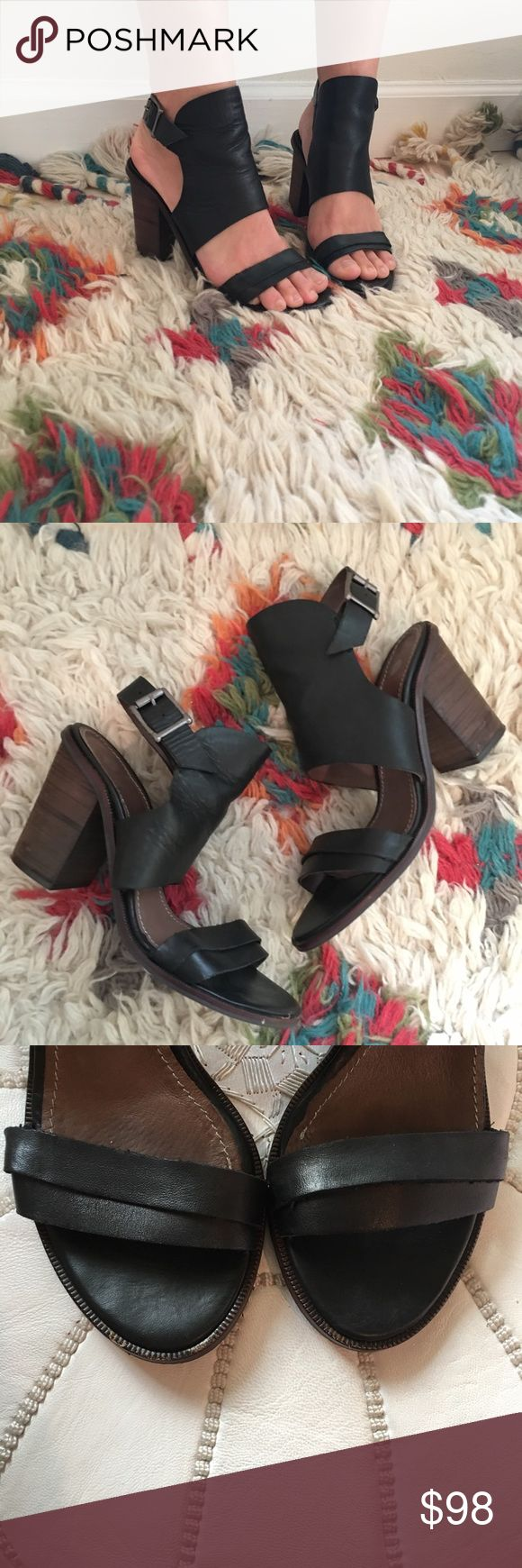 H By Hudson Heels Worn only a few times! Great condition and no signs of wear other than the bottom! Real leather. Made in London. Size 37 (size 7/7.5) very flattering on the ankle H By Hudson Shoes Heels