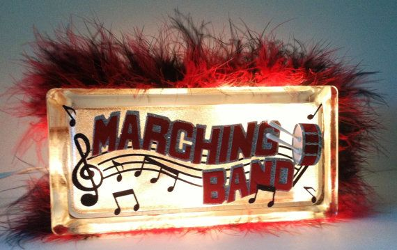 Marching band light block Hey, I found this really awesome Etsy listing at http://www.etsy.com/listing/160906538/music-glass-block-marching-band-music