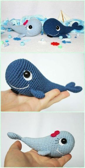Blue Whale and Narwhal amigurumi patterns