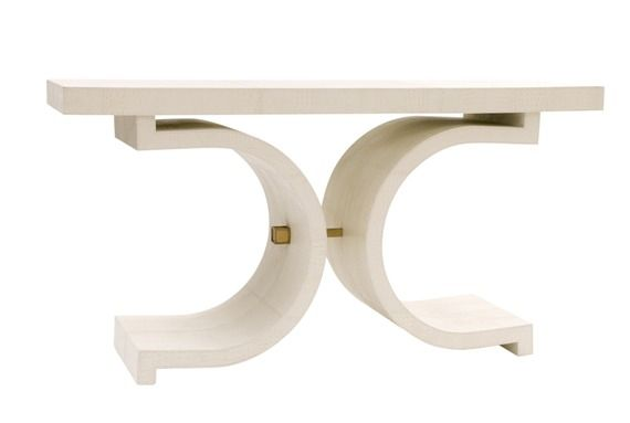 love it! not least because of the brass detail...Linley console table