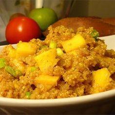 Indischer Quinoa Salat mit Mangostreifen