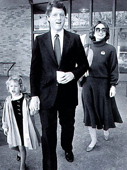 In 1984, the Clintons were a tight-knit family of three in Little Rock, Arkansas, in a time before Bill and Hillary became political powerhouses. Description from people.com. I searched for this on bing.com/images