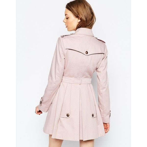 ASOS Skater Trench ($103) ❤ liked on Polyvore featuring outerwear