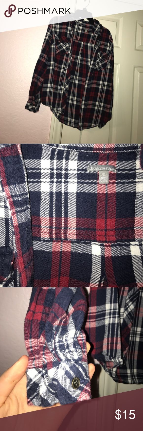 Flannel Charlotte ruuse Like new Tops Button Down Shirts