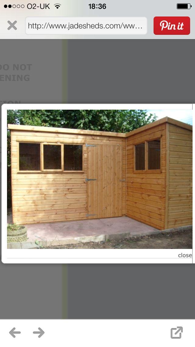36 best images about sheds n dens on pinterest shelters for L shaped shed