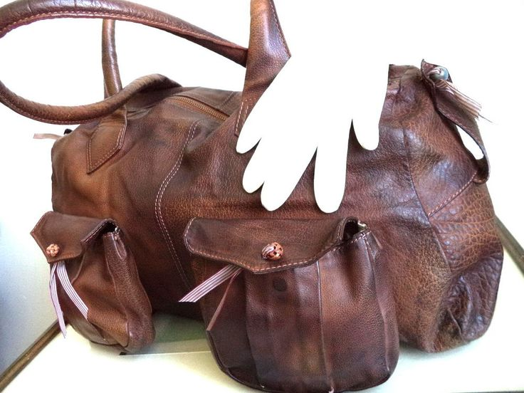 Rare Hugo Boss Bag Large Brown Leather Duffel Speedy Doctor Tote Purse Handbag  #HugoBoss #Vintage