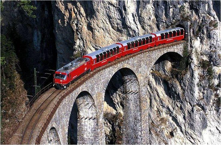 Amazing Landwasser Viaduct, Switzerland