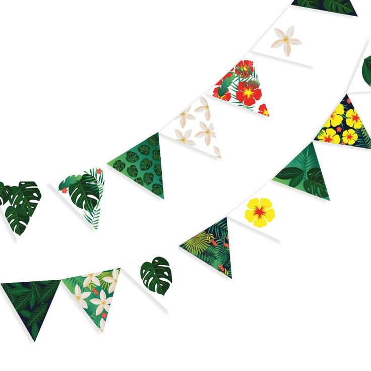 Tropical Bunting – Lucky Lulu Party Shop