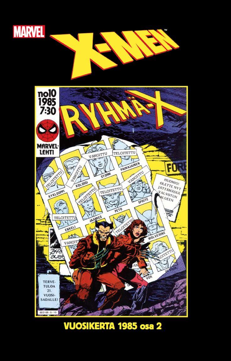 Ryhmä-X:n kasarikokoelma 31.8.2016 kirjakaupoissa ja sarjisdiilereillä! #Marvel #XMen #nostalgia #sarjisklassikko