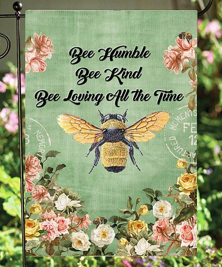 Flags Galore | 'Bee Humble' Outdoor Flag