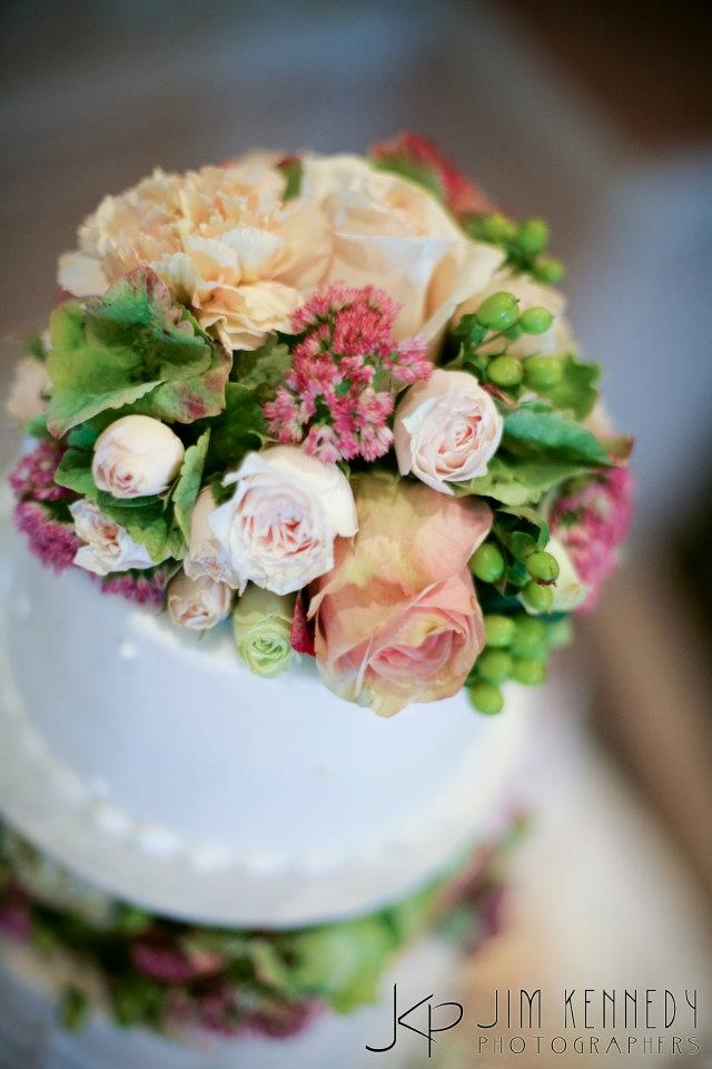 Fresh Floral Wedding Cake Toppers