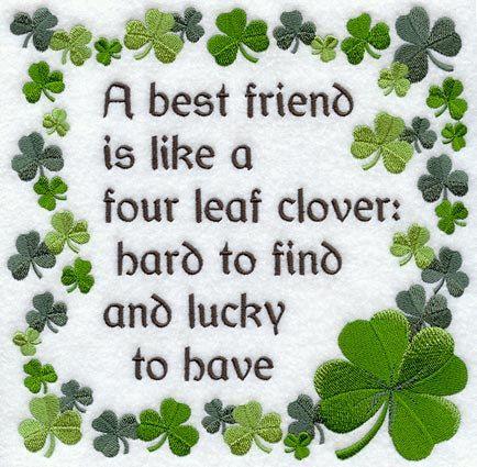 Les meilleures amies bénédiction irlandaise brodé serviette de main pour le sac de farine