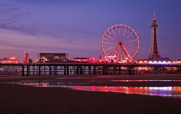 Blackpool's Central Pier at sunset, where working-class visitors danced under the stars in the 19th century. The English city's 66-day Festival of Lights – the Blackpool Illuminations – celebrates its 100th anniversary this year. Learn more via my latest Yahoo Travel article: http://ow.ly/eoXq5 (Photo by Pawel Libera/ VisitBritain)