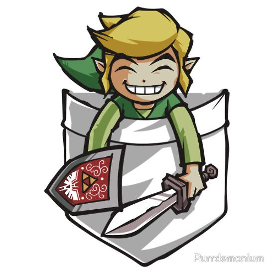 Happy Pocket Toon Link by Purrdemonium