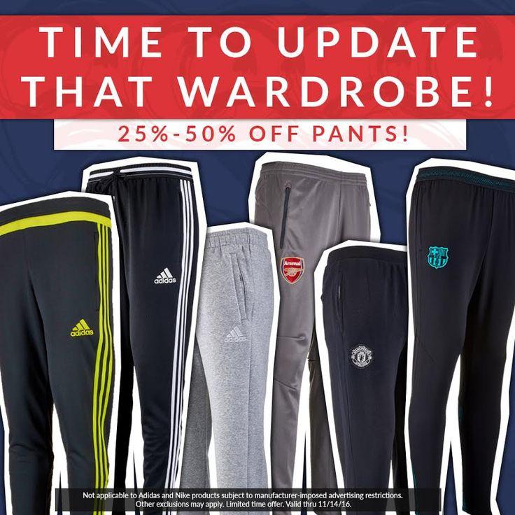 It's that time for great splendiferous deals! 25% - 50% off soccer pants right now! Shop: http://www.soccerpro.com/Soccer-Pants-c28/