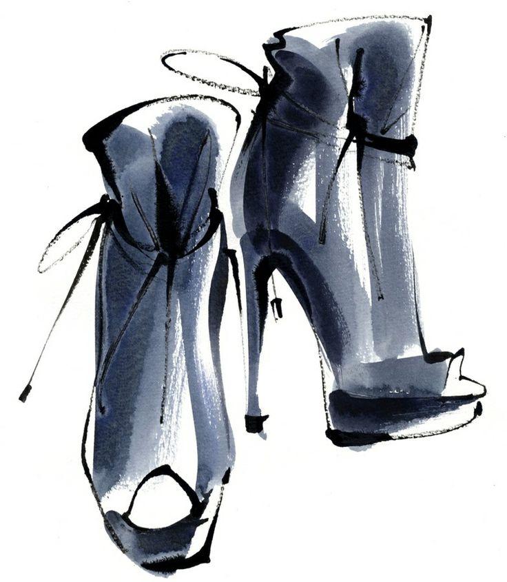 Fashion shoe drawings