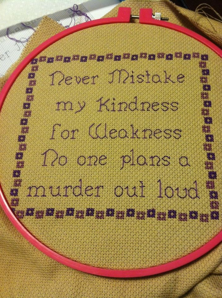 sarcastic cross stitch