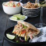 Pulled chicken med coleslaw