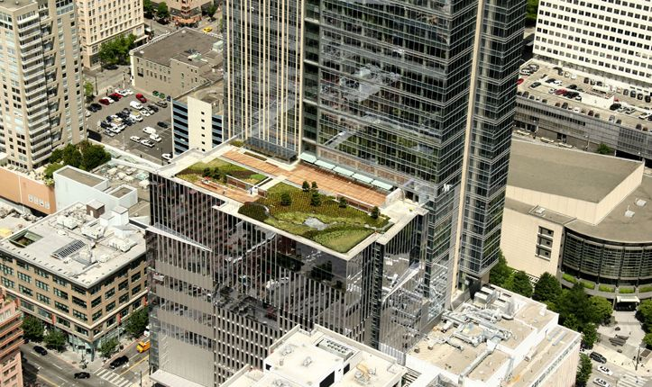 WAMU Green Roof: Front Gardens, Green Roofs, Landscape Architecture, Bank Roof, Rooftop Oasis, Roof Gardens, Rooftop Gardens