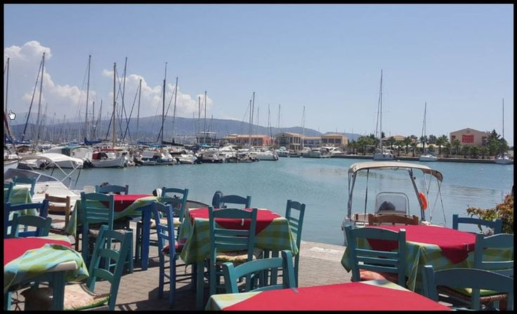 """Marina view from the traditional tavern """"Seven Islands"""""""
