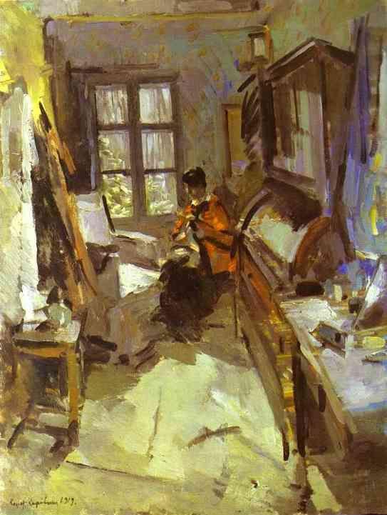 In a room, 1919, Konstantin Korovin.  Russian (1861 - 1932)