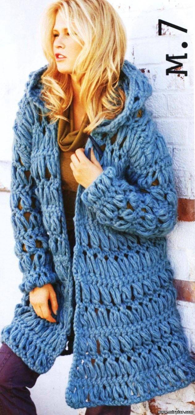 37 best crochet grampo horquilla images on pinterest stricken pattern hairpin crochet hooded chunky coat httpnewsitting bankloansurffo Image collections
