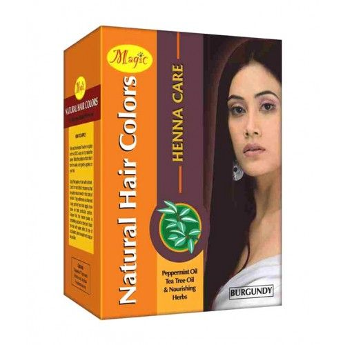 Magic Henna Care is a natural hair colour which is available in three optimum and most preferred shades namely, black, brown and burgundy. This organic hair colour contains all naturally sound hair perfecting ingredients which boost your hair's volume and overall texture. Now get long lasting hair colour with the goodness of pure herbal extracts on the go and say goodbye to hair damage and hair fall due to orthodox hair colouring methods.