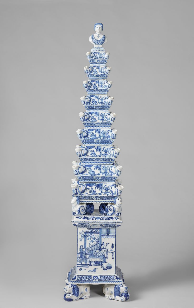 Flower pyramid, attributed to De Metaale Pot, c. 1692 - c. 1700
