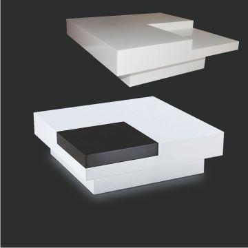 konferenční stolek ELIOT T-648 bílá / černá, AKCE