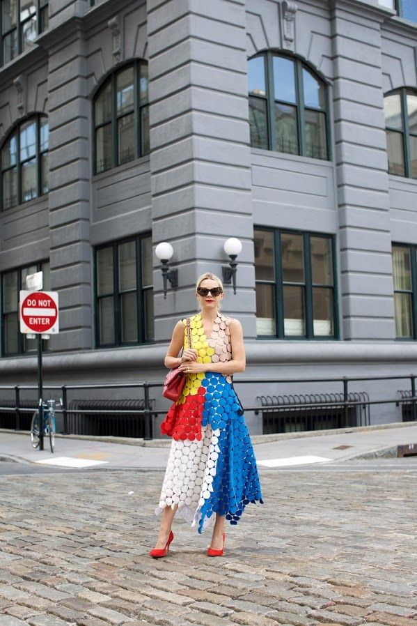 Such a fun, colorful look/ lessons in geometry | // Atlantic-Pacific