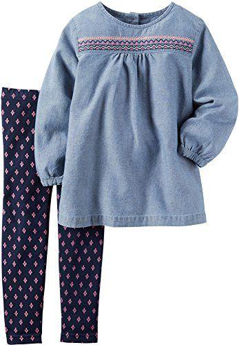 Carter's Baby Girls 2 Pc Playwear Sets Denim 18M