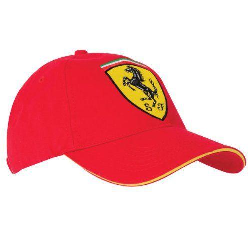Ferrari Casquette Scudetto Taille unique rouge: Ferrari Scudetto Casquette Rouge Taille Scuderia Ferrari Scudetto Classic Cap – Red – One…