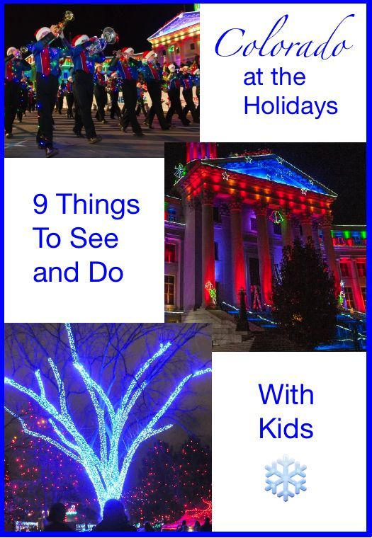 Denver lights up its entire city during the holiday season with parades, special performances, fireworks and lots of...lights.