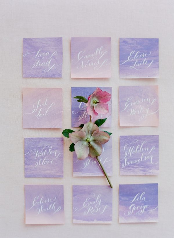 printable wedding place cards vintage%0A Watercolor Place Cards    Photography  Jose Villa   Stationery  Love Jenna  Calligraphy