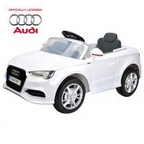 Officially Licensed and authorised Audi A3 Scale 1 4 Simulation electric car Cool twin exhaust pipes 3D Body Line Full suspension Start Stop -