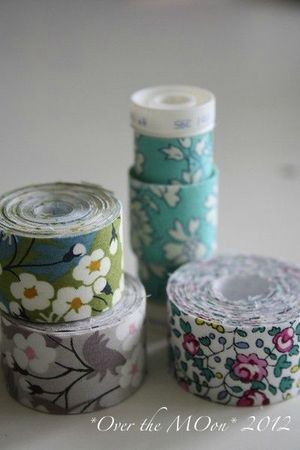 fabric tape=double sided tape and fabric, cute!