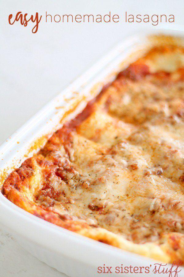 Easy Homemade Lasagna Recipe