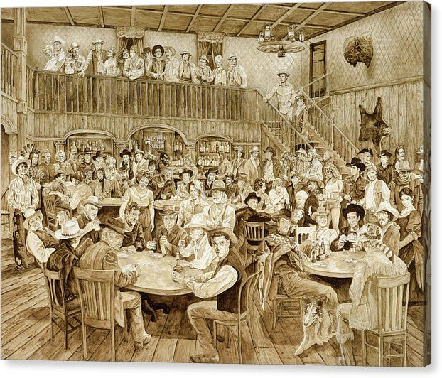 Andren Sylvesters saloon, Georgetown :: Western History