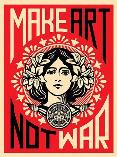 OBEY Make Art not War Galería virtual territoriotoxico.wordpress.com