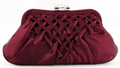 Evening clutch purse ~ love the velour/velvet and braided design <3