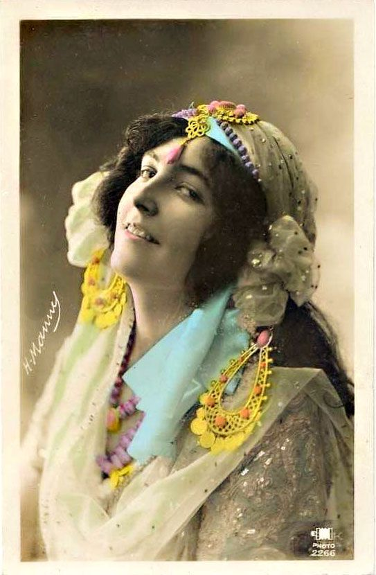 Gypsy photo with color splash.