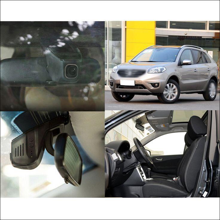 For Renault Koleos Car Wifi DVR Driving Video Recorder Car Black Box hidden installation dash cam g-sensor fhd 1080p wide angle