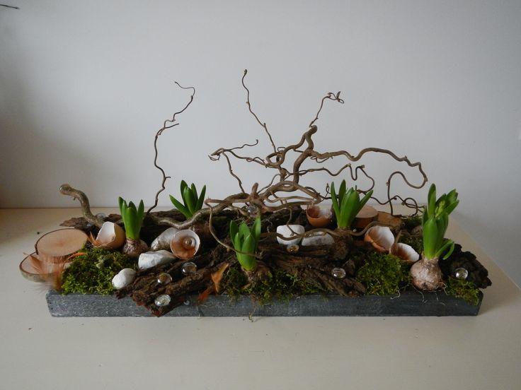 voorjaarsstuk met hyacinten