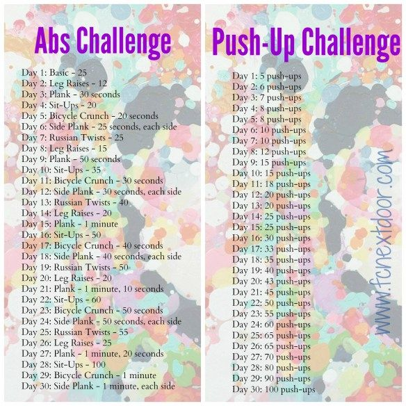 30 Day Ab + Push-Up Challenge