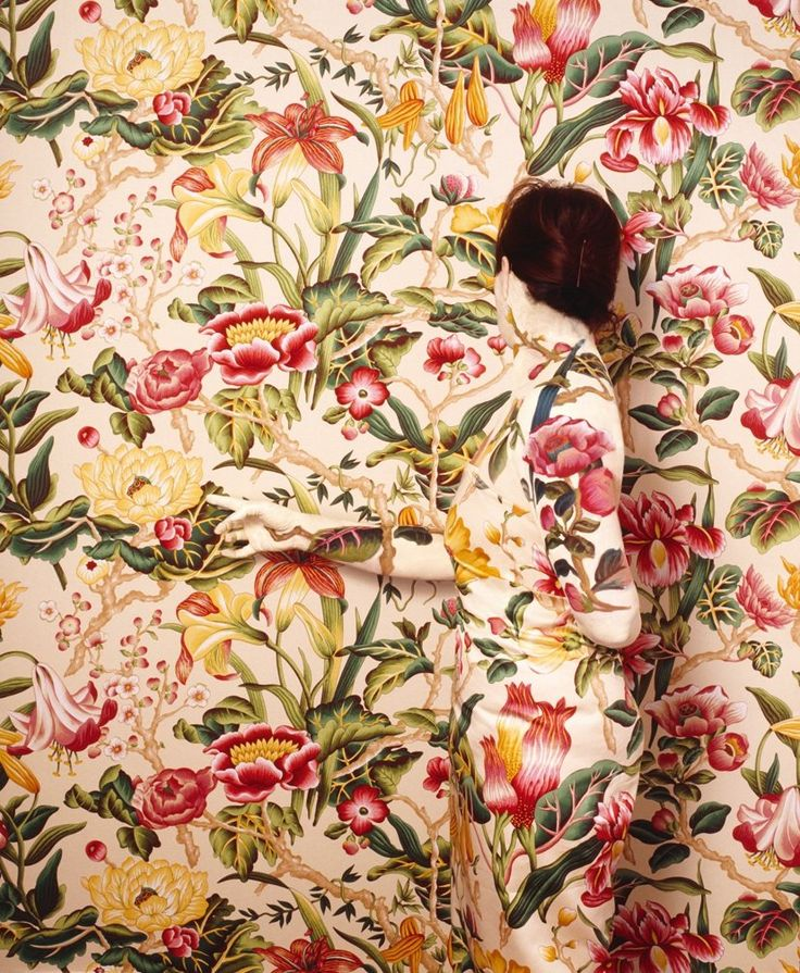 Paradise Cecilia Paredes Disappears Into Wallpaper