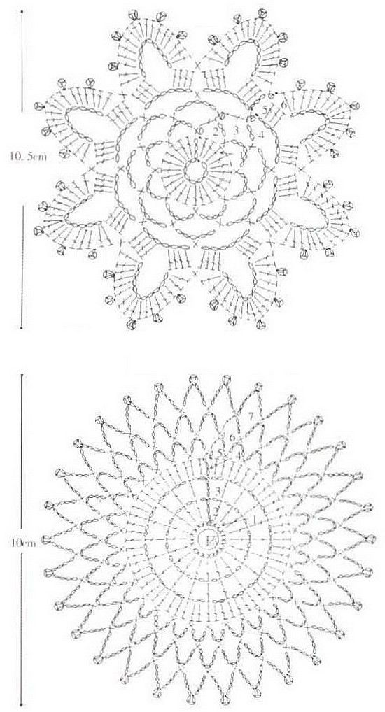 221 best Crochet Mandala images on Pinterest | Crochet doilies ...