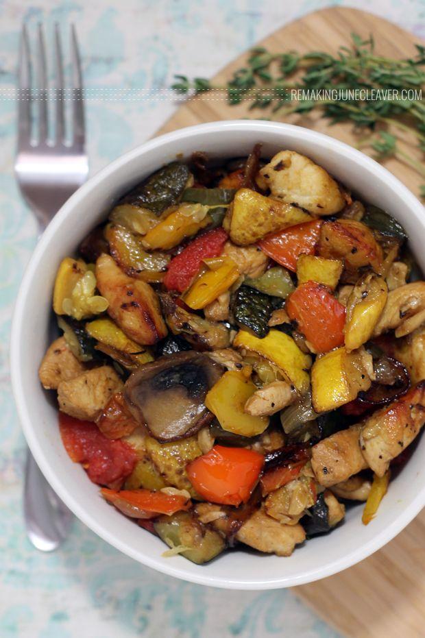 Paleo Chicken and Mushroom Ratatouille #CookClassico - Remaking June Cleaver