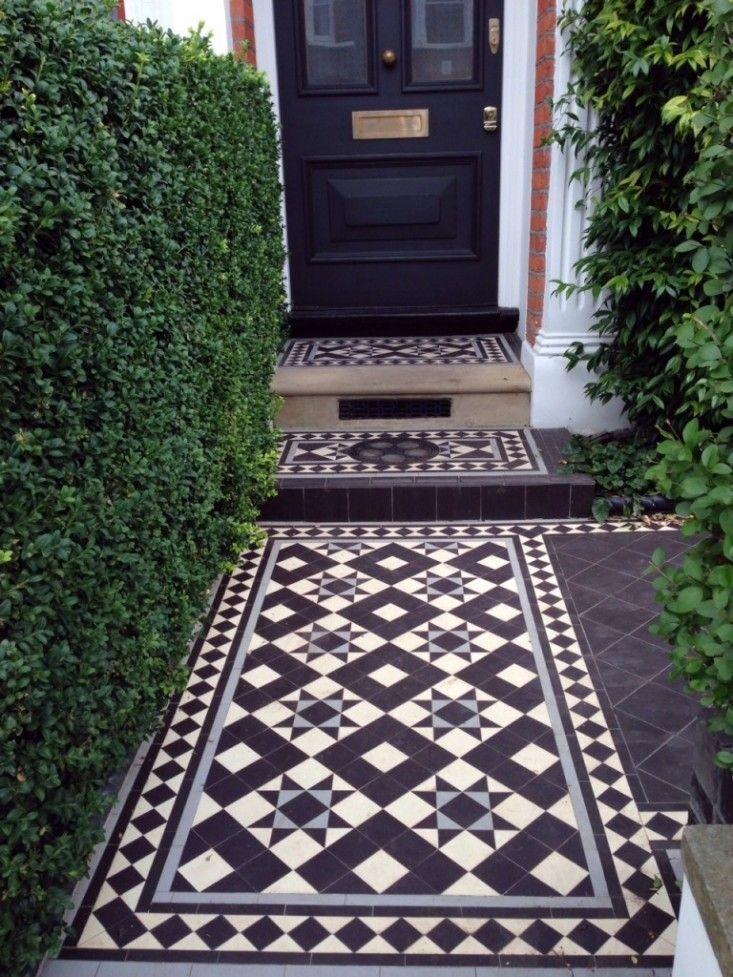 Victorian Mosaic tile path London Curb Appeal ; Gardenista