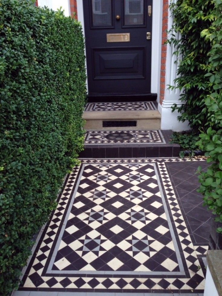 Victorian Mosaic tile path London Curb Appeal ; Gardenista