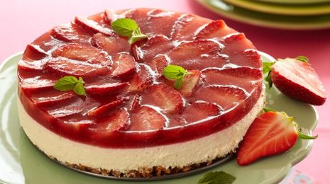 LCHF Strawberry cheesecake